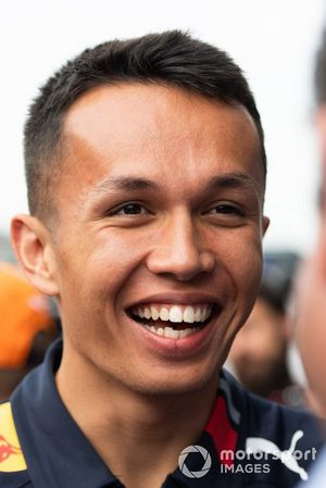 Alexander Albon, Red Bull Racing speaks to the media