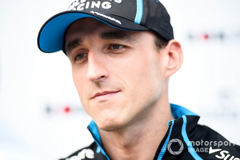 Robert Kubica, Williams Racing speaks to the media