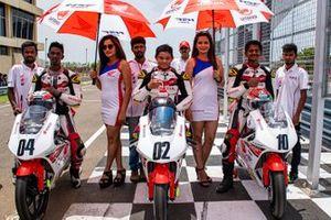 Race winner Varoon, second place Kavin Samaar Quintal, third place Geoffrey