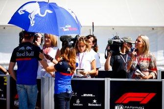 Daniil Kvyat, Toro Rosso, parle à la presse