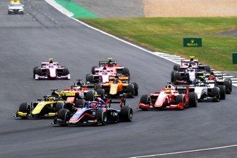 Nobuharu Matsushita, Carlin, Guanyu Zhou, UNI Virtuosi Racing et Mick Schumacher, Prema Racing