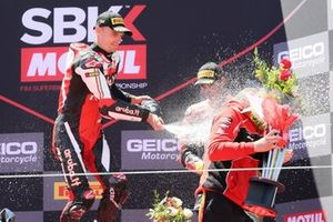 Chaz Davies, Aruba.it Racing-Ducati Team celebrates