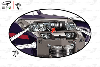 Red Bull Ring RB 14, front suspension