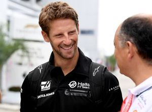 Romain Grosjean, Haas F1 Team arrives at the track