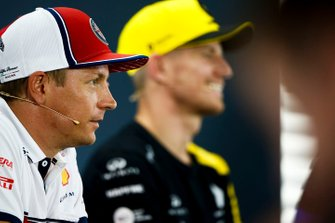 Kimi Raikkonen, Alfa Romeo Racing and Nico Hulkenberg, Renault F1 Team in the Press Conference