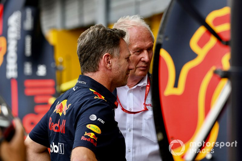 Christian Horner, Team Principal, Red Bull Racing, e Helmut Marko, Consultant, Red Bull Racing