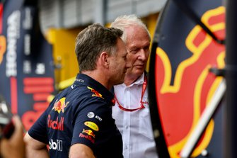 Christian Horner, Team Principal, Red Bull Racing, and Helmut Marko, Consultant, Red Bull Racing