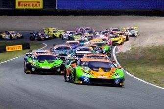 #63 Huracán GT3 Evo, Orange1 by GRT Grasser: Mirko Bortolotti, Christian Engelhart