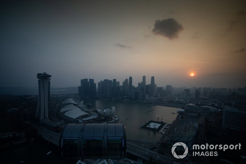A view from the Singapore Flyer