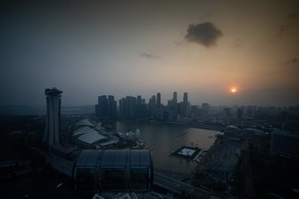 Vista dalla ruota panoramica di Singapore
