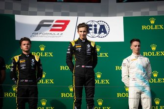 Christian Lundgaard, ART Grand Prix Max Fewtrell, ART Grand Prix and Jake Hughes, HWA RACELAB