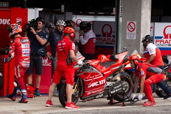 Ducati Team mechanics at work