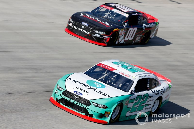 Austin Cindric, Team Penske, Ford Mustang MoneyLion Cole Custer, Stewart-Haas Racing, Ford Mustang Production Alliance Group