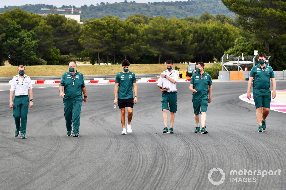 Lance Stroll, Aston Martin, recorre la pista