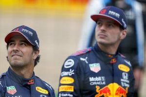 Sergio Perez, Red Bull Racing and Max Verstappen, Red Bull Racing