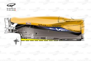 Fond plat de McLaren MCL35M