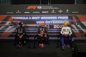 Valtteri Bottas, Mercedes, Max Verstappen, Red Bull Racing , Lando Norris, McLaren