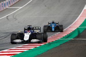 George Russell, Williams FW43B, Fernando Alonso, Alpine A521