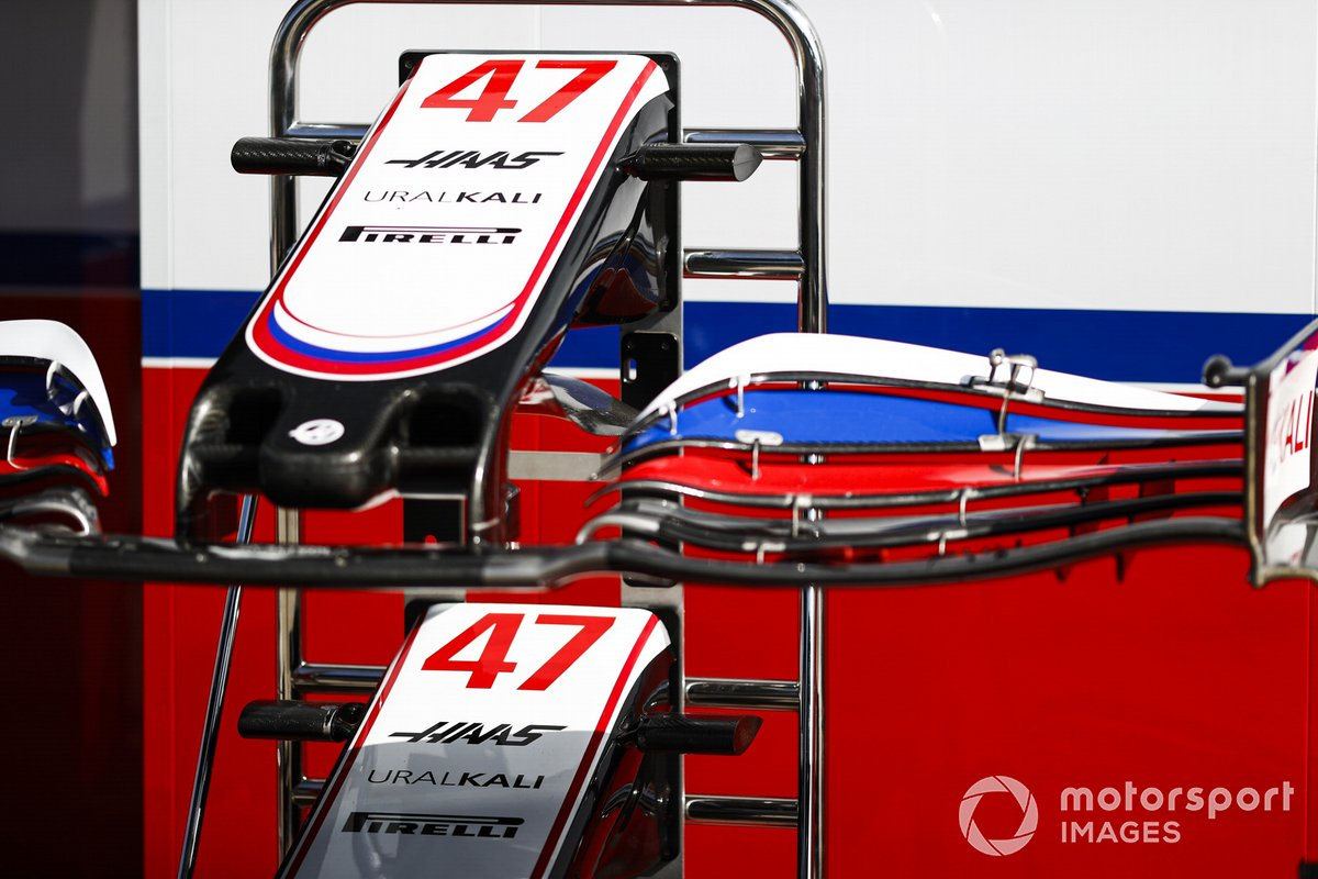 Alerones delanteros del coche de Mick Schumacher, Haas VF-21