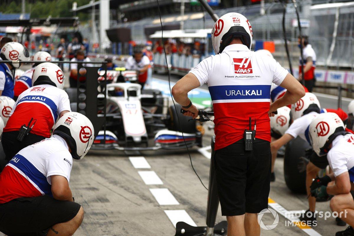 Práctica de pitstop de Haas