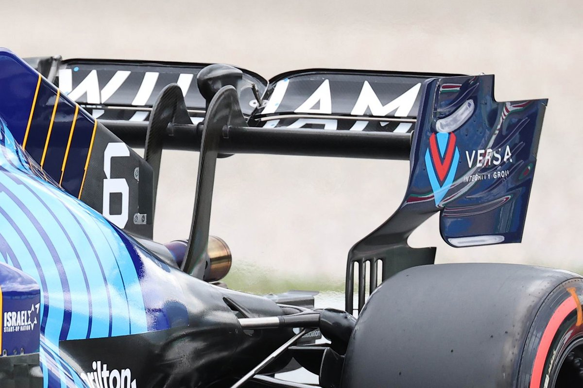 Detalle del alerón trasero del Williams FW43B