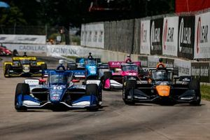 Alex Palou, Chip Ganassi Racing Honda, Patricio O'Ward, Arrow McLaren SP Chevrolet