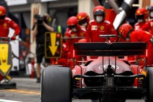 Charles Leclerc, Ferrari SF21, in the pits