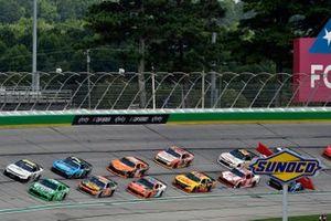 A.J. Allmendinger, Kaulig Racing, Chevrolet Camaro Hyperice, Kyle Busch, Joe Gibbs Racing, Toyota Supra Extra Gum