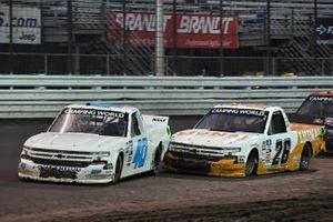Ryan Truex, Niece Motorsports, Chevrolet Silverado Marquis Spas and Tyler Ankrum, GMS Racing, Chevrolet Silverado LiUNA!