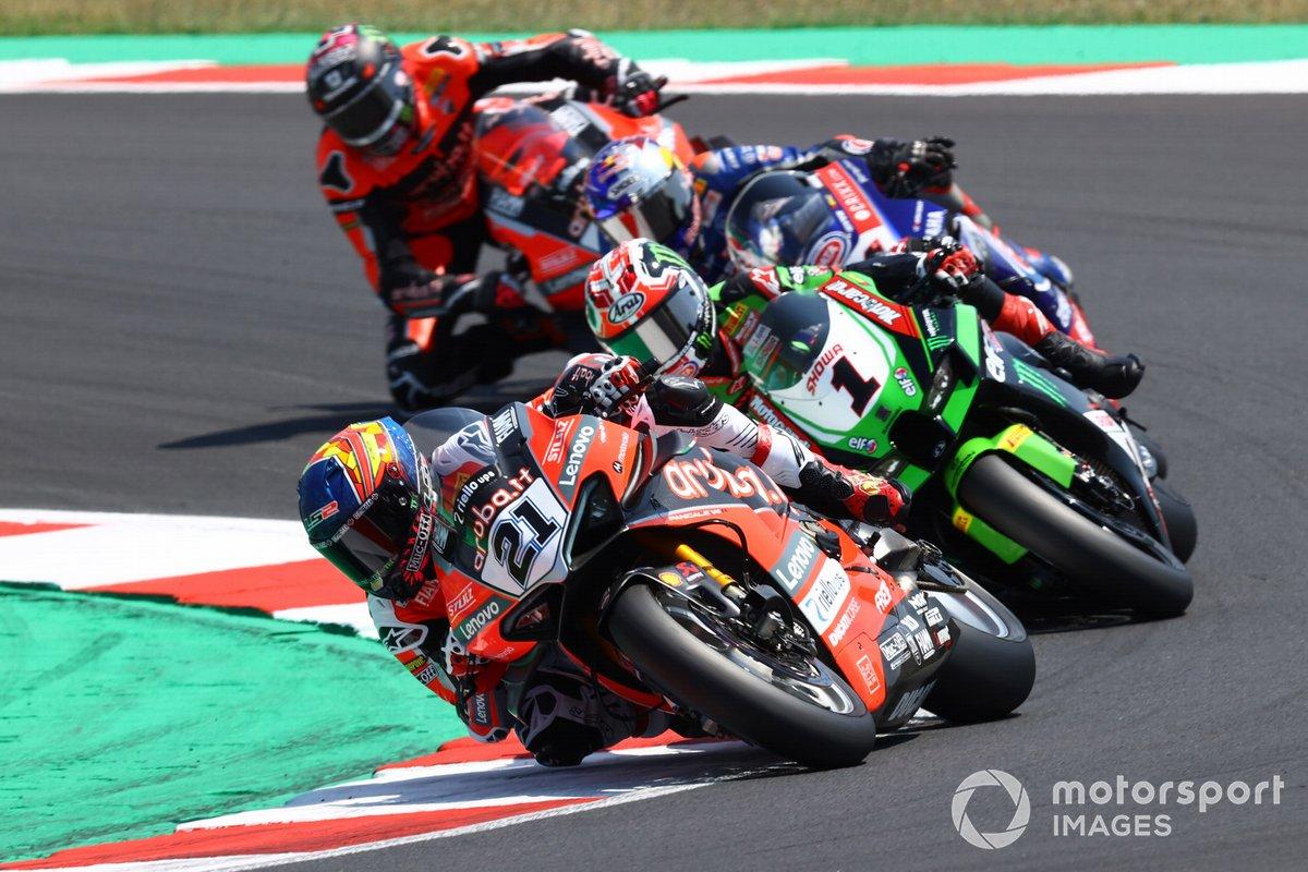 Michael Ruben Rinaldi, Aruba.It Racing - Ducati, Jonathan Rea, Kawasaki Racing Team WorldSBK, Toprak Razgatlioglu, PATA Yamaha WorldSBK Team, Scott Redding, Aruba.It Racing - Ducati