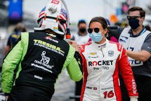 Charlie Kimball, A.J. Foyt Enterprises Chevrolet, Simona De Silvestro, Paretta Autosport Chevrolet