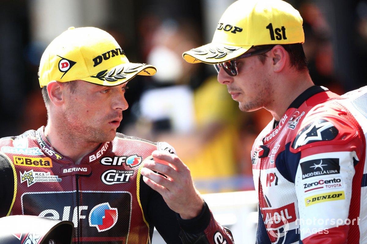Sam Lowes, Marc VDS Racing Team, Fabio di Giannantonio, Federal Oil Gresini Moto2