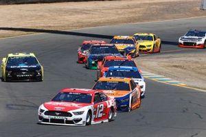Ryan Blaney, Team Penske, Ford Mustang DEX Imaging and Joey Logano, Team Penske, Ford Mustang Autotrader