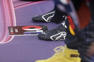 The boots of Pierre Gasly, AlphaTauri