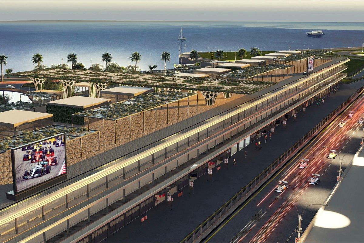 Pitlane para el Gran Premio de Arabia Saudí