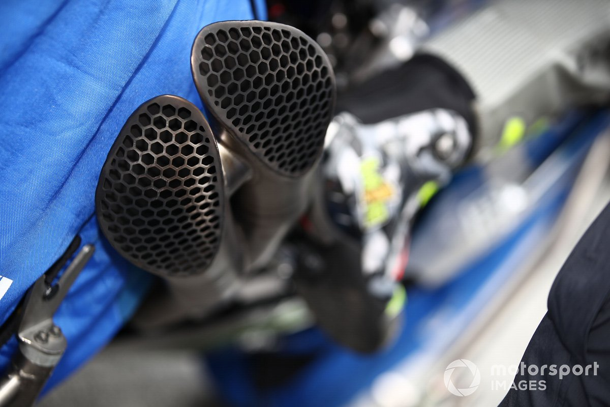Dettaglio della moto del Team Suzuki, MotoGP