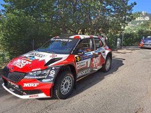 Paolo Andreucci, Francesco Pinelli, M33-Team MRF Tyres, Skoda Fabia Rally2 Evo
