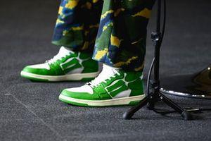 Scarpe di Lewis Hamilton, Mercedes in conferenza stampa