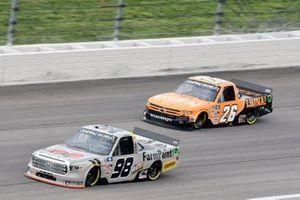 Christian Eckes, ThorSport Racing, Toyota Tundra and Tyler Ankrum, GMS Racing, Chevrolet Silverado LiUNA!