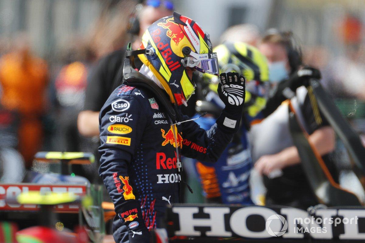 Sergio Perez, Red Bull Racing, al Parc Ferme