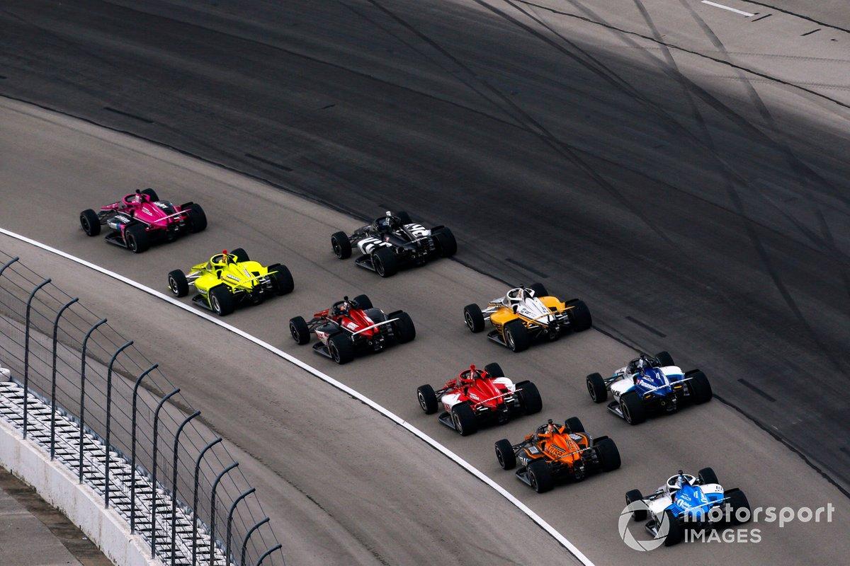 Marcus Ericsson, Chip Ganassi Racing Honda, Patricio O'Ward, Arrow McLaren SP Chevrolet