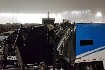 NASCAR Truck accidente de transporte