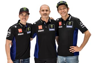 Valentino Rossi, Yamaha Factory Racing, Maverick Vinales, Yamaha Factory Racing, Maio Meregalli, Yamaha Factory Racing team manager