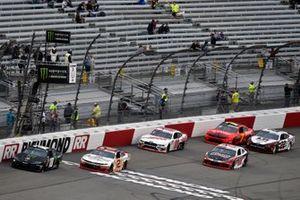 Kyle Busch, Joe Gibbs Racing, Toyota Camry M&M's and Tyler Reddick, Richard Childress Racing, Chevrolet Camaro Anderson's Maple Syrup