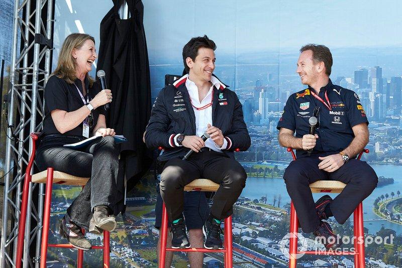 Керівник Mercedes AMG Тото Вольфф, керівник Red Bull Racing Крістіан Хорнер