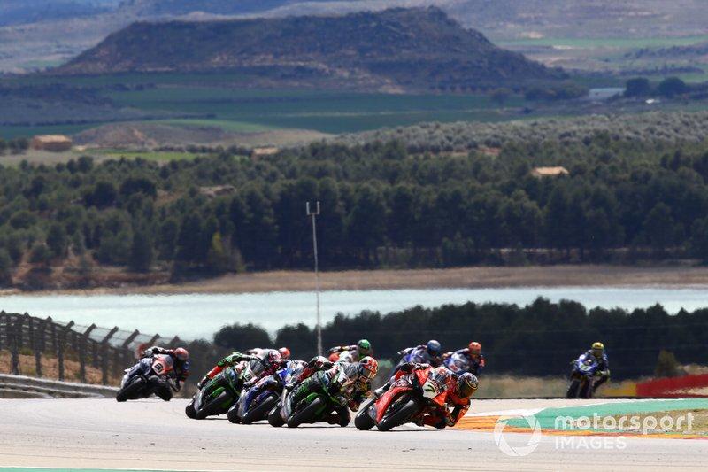 Chaz Davies, Aruba.it Racing-Ducati Team, Jonathan Rea, Kawasaki Racing, Alex Lowes, Pata Yamaha