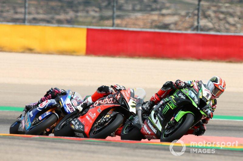 Jonathan Rea, Kawasaki Racing, Chaz Davies, Aruba.it Racing-Ducati Team