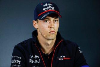 Daniil Kvyat, Toro Rosso, en conférence de presse