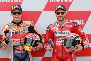 Polesitter Marc Marquez, Repsol Honda Team, third place, Andrea Dovizioso, Ducati Team