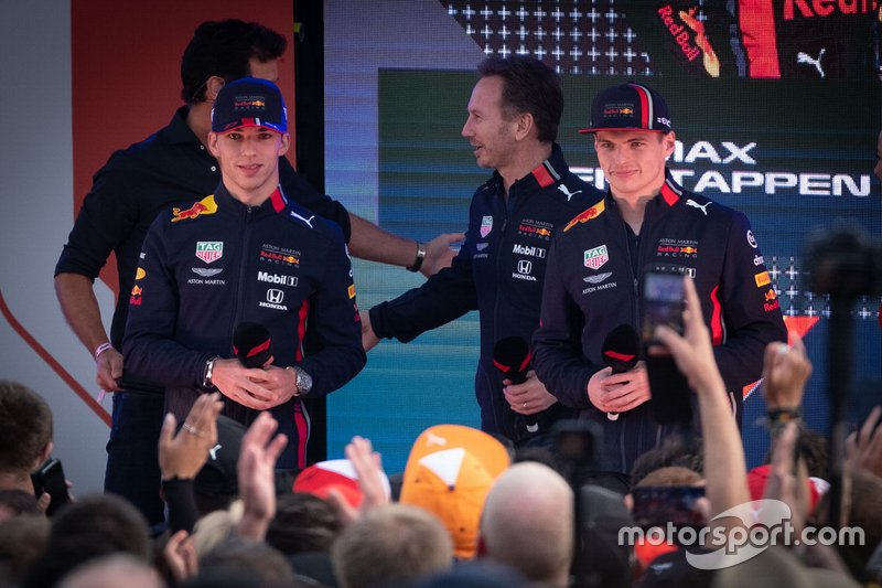 Mark Webber, Pierre Gasly, Red Bull Racing, Max Verstappen, Red Bull Racing, Christian Horner, Red Bull Racing Team Principal